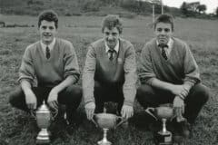 1988-89' Team Captains. Tim Foley - Dunloe Cup (Kerry), Michael Carmody - Russell Cup (Kerry), John O'Connell - Corn Na Carraige (Munster)