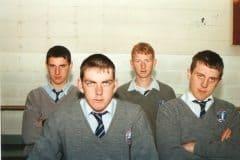 Boys Gaelic Football; Shaun McGinley, Diarmuid Woods, John Holly, Brendan Bambury (Missing- Steve Denihan)